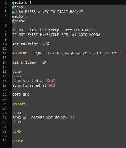 Backup Text File